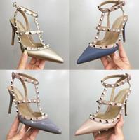römische hochzeitssandalen großhandel-Freie Verschiffenfrauen-Parteimode nietet Schuhmädchen reizvolle spitze Absatz-römische Sandelholze mit einzelnen Schuhen, die Schuhe wedding sind