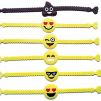 Wholesale bag straps for sale online - Hot Sale Emoji Bracelet Children Christmas Gift Wristband Safety Silicone Wrist Strap Toy For Kids ty Ww
