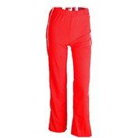 düğme bacağı toptan satış-Kadınlar Saf Renk Geniş Bacak Pantolon bölünmüş Yan Düğmeleri Kesti Jogging Yapan Moda Rahat Pantolon (M, kırmızı)