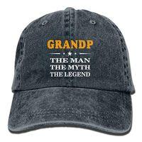 5fceac6d5c5 2019 New Wholesale Baseball Caps Mens Cotton Washed Twill Baseball Cap  Grandpa The Man The Myth The Legend Hat