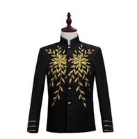 6f787a3c9ceab Blazer bordado trajes de los hombres trajes trajes de escenario para  cantantes chaqueta para hombre ropa estilo estrella del baile vestido  masculino homme