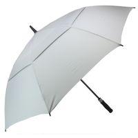 зонтик водонепроницаемый оптовых-Гольф Зонтик для мужчин автоматические открытые ветрозащитные зонтики очень большой негабаритных двойной навес вентилируемые водонепроницаемый палку 62-дюймовый цвет серый