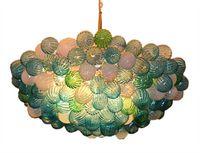 araña de estilo libre al por mayor-Envío libre de China Factory-outlet Murano Style Glass Chandelier LED Crystal techo lámparas colgantes para decoración