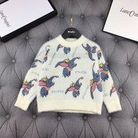 jersey de elefante al por mayor-Suéteres de invierno para el invierno de la muchacha vestir de los niños suéter de visón felpa elefante pequeño vuelo de tejer suéter 101608