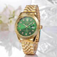 ingrosso orologio perpetuo della data-Rolex New Oyster Perpetual Day-Date 36 dyster erpetual watch scivolata meccanica liscia da uomo royal oaks Cinturino in acciaio inossidabile Orologi da polso