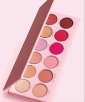 polvo de 12 colores al por mayor-Jenner 2019 The Valentine Eye Shadow Palette paleta de polvo prensado 12 Resaltador de color 1 unids envío rápido