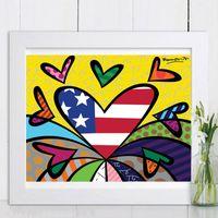 ingrosso dipinti d'amore-Romero Flying Hearts Love Me Tender Stampe su tela Quadri modulari per soggiorno Poster sul muro Decorazione per la casa