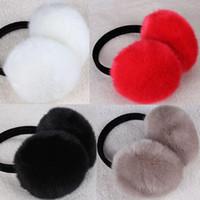 Wholesale earmuff warmer resale online - Woman Soft Fur Earmuff Fashion Keep Warm Lady Girls Man Sleeve Shield Cover Lovely Female Plush Winter Ear Muffs TTA1384