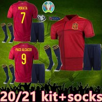 Wholesale spain morata jersey for sale - Group buy top Spain kit socks soccer jersey españa kit RODRIGO PACO ALCACER MORATA RAMOS THIAGO football soccer Shirt camisetas de futbol