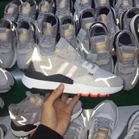 atletik ayakkabı tasarımcıları toptan satış-Erkek 2019 Nite Jogging Yapan Koşu Ayakkabıları Moda Retro CG7088 3 M Patlamış Mısır Tasarımcı Ayakkabı Spor Rahat Yürüyüş Açık Havada Atletik Sneakers