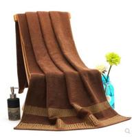 toalhas de banho de boa qualidade venda por atacado-Venda imperdível! Novo 2019 Clássico bom Grande Terry Toalhas de Praia Toalha para Homens / Mulher de Alta Qualidade Toalhas de Banho de Banho presente de Casamento Presente VIP 3026