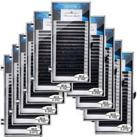 ingrosso vendita di ciglia false individuali-8MM-15MM Estensione ciglia Visone Ciglia finte Soft Black 16rows Ciglia individuali Strumento di trucco per microblading Vendita calda
