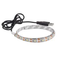 ingrosso 3m cavo chiaro-5V 50CM 1M 2M 3M 4M 5M Cavo USB Power LED Strip Light Lampada SMD 2835 Desk Decor Lamp Tape per TV Illuminazione di sfondo