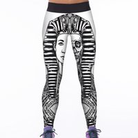 Wholesale galaxy yoga pants for sale - Group buy Yoga Sports Pants Women Legging Fitness Trousers Workout Lady Europe Pharaoh Funny Devil Skyscape Galaxy Birds Skull LNASlgs