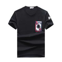 ropa de color al por mayor-Ropa de rayas para hombre marca polo Camisetas de alta calidad Algodón puro Camiseta de verano Hombres Rubik Cube Camiseta coloreada camiseta cuadrada fundida