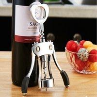 vinho de liga de zinco venda por atacado-Liga de zinco profissional abridor de garrafas de vinho alça de pressão saca-rolhas abridor de vinho tinto acessório da cozinha bar ferramenta