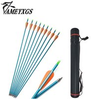 Wholesale bow quivers resale online - Ameyxgs Aluminum Arrows Inch Hunting Arrows with Retractable quiver Spine Arrow for Compound Bow and Recurve Bow