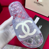 Wholesale women close toe sandals for sale - Group buy Women Transparent Slippers Black Glossy Transparent Pool Mules Slides Summer PVC Sandals New Crystal Female Shoes mules with box free shippi