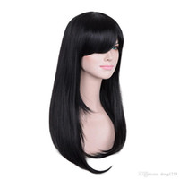Wholesale long real human hair wigs resale online - 23 Black Hair Full Wig Women Long Straight Wigs Real Human Hair Silky Wig gt gt gt gt gt New High Quality Fashion Picture wig