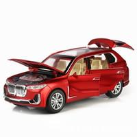 neue x7 großhandel-Neue 1:32 X7 Simulation Legierung Spielzeugautos Diecast X7 Zurückziehen Suv Auto Modell Kinderspielzeug Geländewagen Backen Kuchen Dekorationen J190525