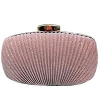 taschen für bräute großhandel-Mode frauen geraffte kupplung abendtasche damen party hochzeit braut brieftasche tag kupplung make-up taschen umhängetasche