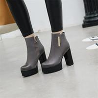 обувь для женщин каблуки оптовых-2020 new women's shoes thin women's boots small boots plus velvet high heels  thick with