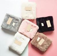 lenço de peles venda por atacado-Inverno de Pelúcia Cachecol 95 * 20 cm 6 Cores Mulheres Meninas Quente Lenços de Lã Macia Pêlo Fuzzy Austrália Lenço OOA6253