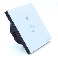 автоматизация освещения оптовых-WiFi настенный сенсорный выключатель света 1 банда вкл / выкл беспроводной пульт дистанционного управления таймером дистанционного управления домашней автоматизации