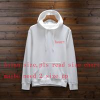moda stili sweatshirt toptan satış-Erkekler Için yeni Tasarımcı Hoodies Bahar Erkek Hoodie Kazak Gevşek Stil Moda Gelgit Lüks Kazak Ile Kalp Desen S-3XL Tops
