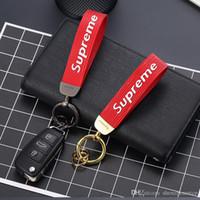 acessórios para porsche venda por atacado-Acessórios de carro Homens Chaveiro para o Presente do Negócio de Couro Auto Chaveiro para Nissan Toyota Porsche SAAB Suzuki BMW Titular Chave Volvo