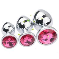 Wholesale rosebud plugs resale online - Factory price Large Medium Small sizes Stainless Steel Attractive Butt Plugs Rosebud Anal Sex Jewelry Jewelled buttplugs Many colors