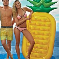 aufblasbare kinderschwimmbäder großhandel-Schwimmende schwimmbett Ananas Schwimmring Einhorn Aufblasbare Pool Float Für ChildAdult Wasser Spielzeug