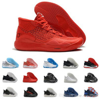 Wholesale basketball shoes sales usa for sale - Group buy New Sale Mvp Kevin KD Anniversary University s s Oreo Men Basketball Shoes USA Elite KD12 EYBL Multicolor Sports Sneakers