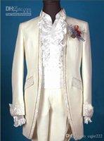 özel tasarım giyim erkek toptan satış-Özel Yapılmış Yeni Tasarım Damat Smokin Groomsmen Erkekler Blazer Düğün Giyim Iş Takım Elbise (Ceket + Pantolon + Kuşak) 264