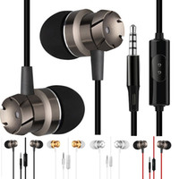 Wholesale pc earbuds resale online - 3 Mm Jack Earphone Super Bass Music In ear Stereo Headphone Wired Headset Earphone Earbuds for iphone samsung mp3 pc headphones