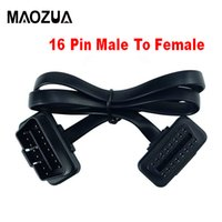Wholesale flat noodle cable for sale – best Maozua Pin OBDII OBD OBD2 Cable Connector Diagnostic Tool ELM327 Adapter Flat Thin As Noodle Male to Female Extension