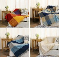 Wholesale decorative hand towels resale online - Vintage Thread Blanket Bohemian Chenille Towel Blanket for Couch Sofa Decorative Slipcover Throws Blanket Travel Plane Blankets