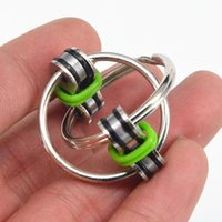 Wholesale fidget rings for adhd for sale - Group buy New Key Ring Hand Spinner Tri Spinner Reduce Stress EDC Fidget Toy For Autism ADHD