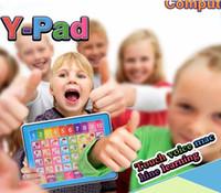 ingrosso tavoletta didattica inglese-Bambini bambini inglese pad apprendimento giocattolo educativo tablet tablet macchina didattica strumenti per bambini laptop pad giocattoli educativi per bambino S19JS232