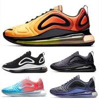 siyah tutu kadınlar toptan satış-Nike Air Max 720 Yüksek kalite ile Sneaker Koşu Ayakkabıları Erkekler Kadınlar Için Gündoğumu Günbatımı Kuzey Işıkları Karbon Gri Altın Tutu ...
