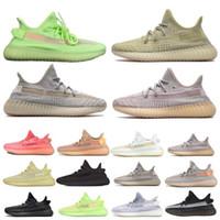 sapatas da fluorescência venda por atacado-Alta Qualidade Kanye West Argila V2 Static Reflective GID Brilho No Escuro Fluorescência Running Shoes Chaussures v2 Das Mulheres Dos Homens Tênis Esportivos
