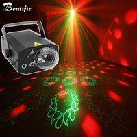 équipement de scène de mariage achat en gros de-Disco Magic Ball Party Lights RGB LED Centre de Musique Projecteur Laser Son actif 16in1 Stage Effet