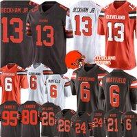 beckham jr jersey toptan satış-13 Odell Beckham Jr Forması Cleveland 6 Baker Mayfield Browns Forması 80 Jarvis Landry Açgözlü Williams Myles Garrett Ward Chubb Avı Formaları