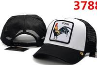 kaliteli horoz toptan satış-Moda Beyzbol Şapkası Rahat Örgü Snapback Kap Nakış Ayı Timsah Horoz Kurt Topu Şapka Yüksek Kaliteli casquette Yeni Yaz Açık Güneş Şapka