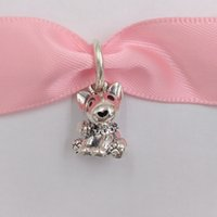 Wholesale bull jewelry for sale - Group buy Authentic Sterling Silver Beads Bull Terrier Puppy Dangle Charm Charms Fits European Pandora Style Jewelry Bracelets Necklace EN