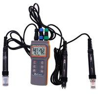 salinimètres achat en gros de-Portable AZ86031 Qualité de l'eau mètre testeur d'oxygène dissous PH conductivité salinité température mètre avec PH mètre