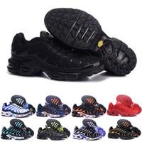 ingrosso basket scarpe a buon mercato-Nike TN plus airmax air max Trasporto veloce 2018 UOMINI di alta qualità Air TN Runner SCARPE CESTINO DI CUCCHIA REQUIN respirabile CAVALLETTE DI MAGLIA HoMMe noir Zapatillaes TN ShOes