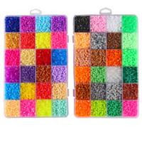 Wholesale kids crafts eva resale online - 1000pcs mm EVA Hama Perler Beads Toy Kids Fun Craft DIY Handmaking Fuse Bead Multicolor Creative Intelligence Educational Toys C6314