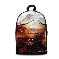 tuval desenli okul sırt çantası toptan satış-Özelleştirilmiş Okul Çantaları Tuval Sırt Çantası Schoolbag Soda Desen Okul Sırt Çantası Kızlar için Satchel Schoolbag Sırt Çantası Kitap Çantaları