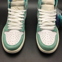 Wholesale shoes top steel online - Air High OG Turbo Green s I White Women Men Basketball Sports Shoes Sneakers Top Quality Trainers With Original Box